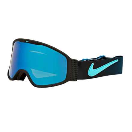 Nike Mazot Snowsport Goggles in Black Brigade/Blue Steel - Closeouts