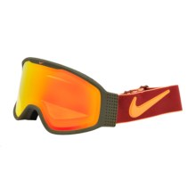 Nike Mazot Snowsport Goggles in Cargo Khaki Gym/Yellow Red Ion - Closeouts