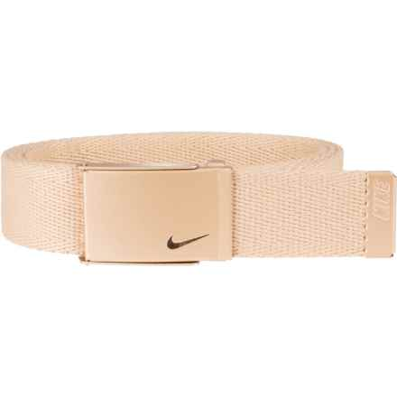 Nike Metallic Single Web Belt (For Women) in Gold - Closeouts