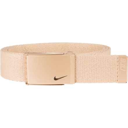 Nike Metallic Single Web Belt (For Women) in Gold - Closeouts