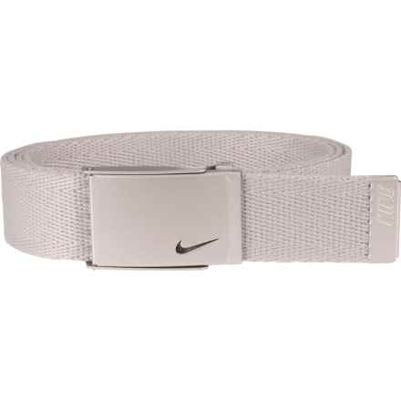 Nike Metallic Single Web Belt (For Women) in Silver - Closeouts