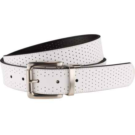 Nike Perforated Leather Belt - Reversible (For Women) in White/Black - Closeouts