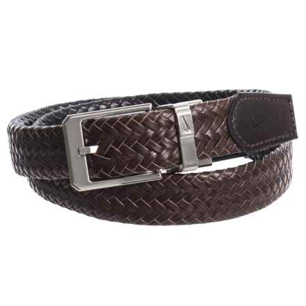 Nike Reversible Braid Belt - Leather (For Men) in Brown/Black - Closeouts