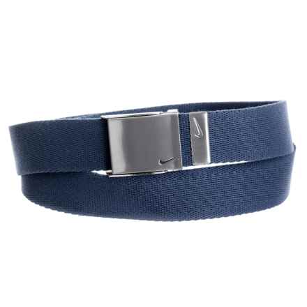 Nike Single Web Belt (For Men) in College Navy - Closeouts