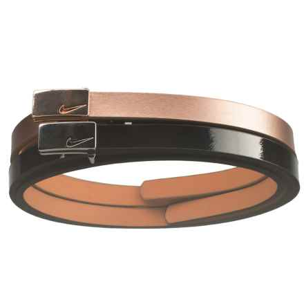 Nike Sleek Modern Skinny Belt - Leather, 2-Pack (For Women) in Black/Rose Gold - Closeouts