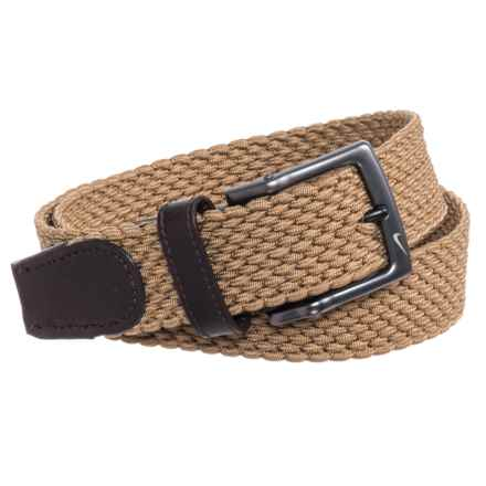 Nike Stretch-Woven Belt (For Men) in Khaki - Closeouts