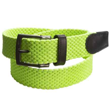 Nike Stretch-Woven Belt (For Men) in Volt - Closeouts