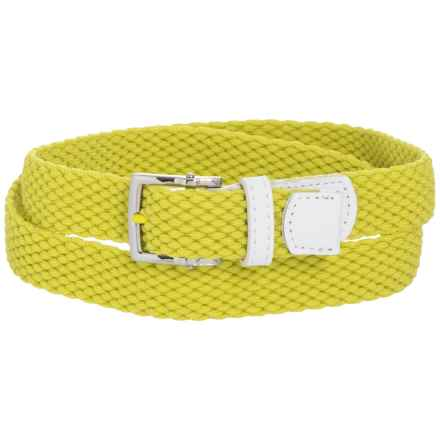 Nike Stretch Woven Belt (For Women) in Electo Lime - Closeouts
