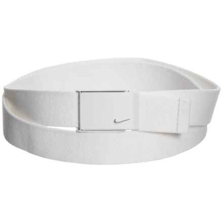 Nike Tech Essential Single Web Belt (For Women) in White - Closeouts