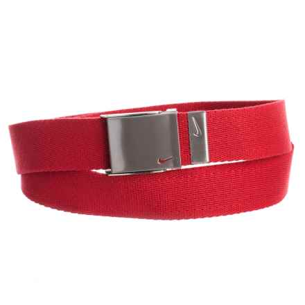Nike Web Belt (For Men) in Red - Closeouts