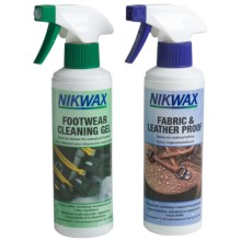 Nikwax Clean & Waterproof Fabric-Leather Footwear Kit - Twin Pack, 10 fl.oz. in Asst - Closeouts