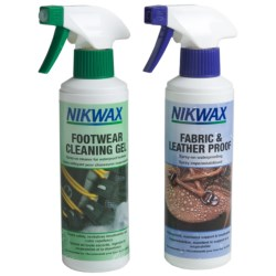 Nikwax Clean & Waterproof Fabric-Leather Footwear Kit - Twin Pack, 10 fl.oz. in Asst