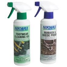 Nikwax Clean & Waterproof Nubuck-Suede Footwear Kit - Twin Pack, 10 fl.oz. in Asst - Closeouts