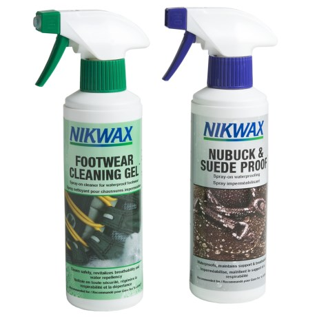Nikwax Clean & Waterproof Nubuck-Suede Footwear Kit - Twin Pack, 10 fl.oz. in Asst