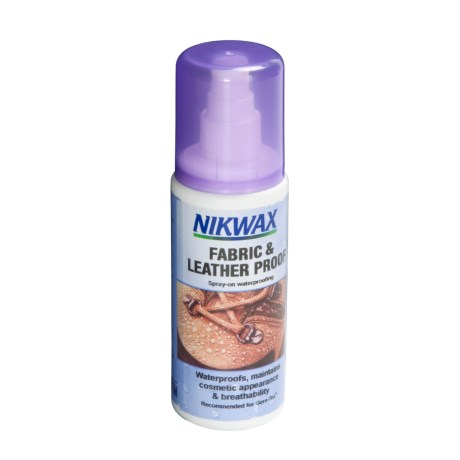 Nikwax Fabric and Leatherproof Spray-On Waterproofing - 4.2 fl.oz.