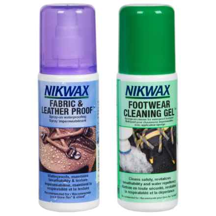 Nikwax Footwear Cleaning and Waterproofing Duo Pack - 4.2 oz. in See Photo - Closeouts