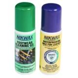 Nikwax Leather Footwear Kit - Cleaning Gel/Waterproofing Wax