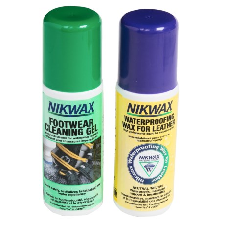 Nikwax Leather Footwear Kit - Cleaning Gel/Waterproofing Wax in Asst