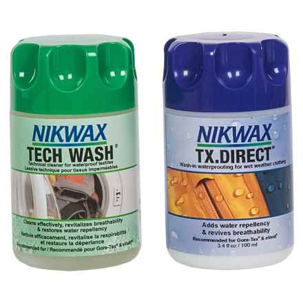 Nikwax Mini Hard Shell Outerwear Cleaner and Waterproofing Duo Pack - 3.4 fl.oz. Each in Asst - Closeouts