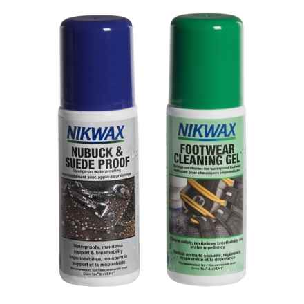 Nikwax Nubuck and Suede Footwear Cleaning and Waterproofing Duo Pack - 4.2 fl.oz. Each in Asst - Closeouts