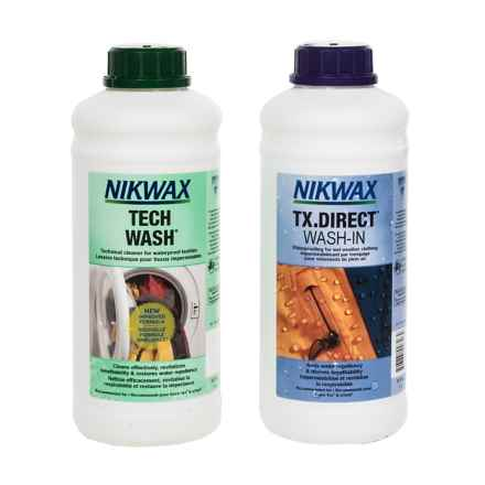Nikwax XL Hard Shell Outerwear Cleaner and Waterproofing Duo Pack - 34 fl.oz. Each in Asst - Closeouts