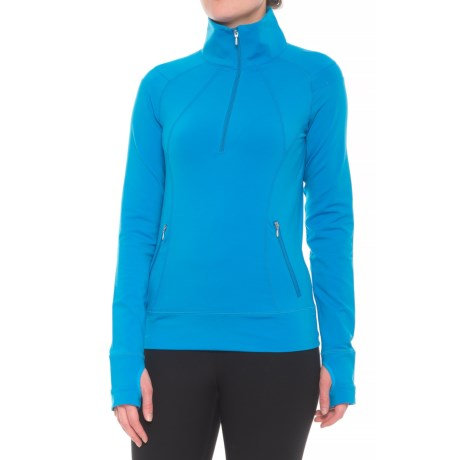 NILS Skiwear Alyssa Base Layer Top - Zip Neck, Long Sleeve (For Women) in Ocean