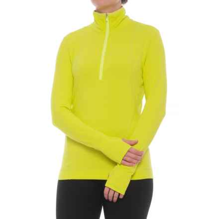 NILS Skiwear Brooklyn Base Layer Top - Zip Neck, Long Sleeve (For Women) in Chartreuse - Closeouts