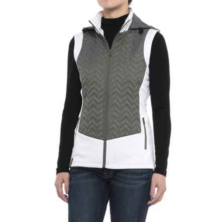 NILS Skiwear Lottie Vest - Insulated (For Women) in Pewter/White - Closeouts