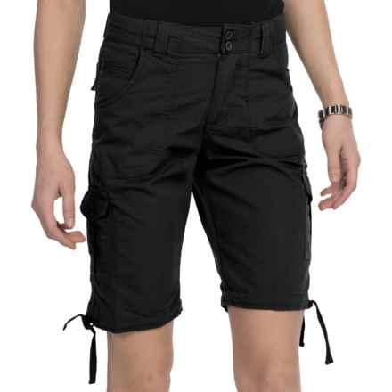 Nina Capri Cargo Shorts (For Women) in Black - Closeouts