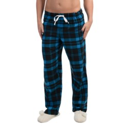 Nina Capri Flannel Print Lounge Pants - Lightweight (For Women) in Black/Blue Plaid