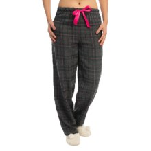 Nina Capri Flannel Print Lounge Pants - Lightweight (For Women) in Charcoal/Blue Plaid - Closeouts