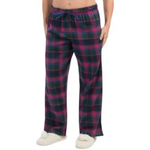 Nina Capri Flannel Print Lounge Pants - Lightweight (For Women) in Forest/Navy Plaid - Closeouts