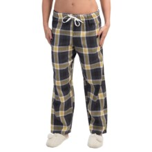 Nina Capri Flannel Print Lounge Pants - Lightweight (For Women) in Yellow/Dark Grey Plaid - Closeouts
