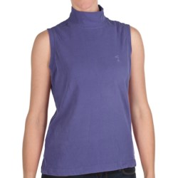 Nina Capri Mock Neck Shirt - Sleeveless (For Women) in Periwinkle