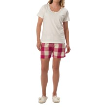 Nina Capri Pajamas (For Women) in White W/ Red /White Plaid - Closeouts