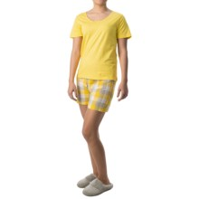 Nina Capri Pajamas (For Women) in Yellow W/Yellow Plaid - Closeouts