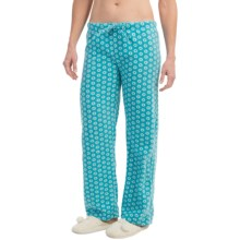 Nina Capri Polar Fleece Lounge Pants (For Women) in Aqua Circles - Closeouts
