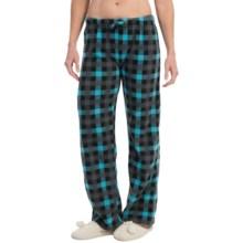 Nina Capri Polar Fleece Lounge Pants (For Women) in Blue Black Grey Check - Closeouts