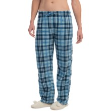 Nina Capri Polar Fleece Lounge Pants (For Women) in Blue Plaid - Closeouts