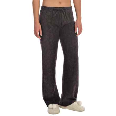 Nina Capri Polar Fleece Lounge Pants (For Women) in Dark Violet Print - Closeouts
