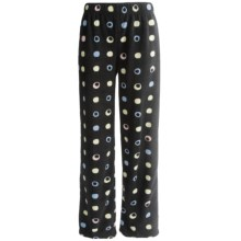 Nina Capri Polar Fleece Lounge Pants (For Women) in Dots Print - Closeouts