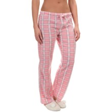 Nina Capri Polar Fleece Lounge Pants (For Women) in Pink/Grey Plaid - Closeouts