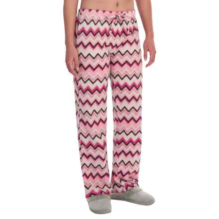 Nina Capri Polar Fleece Lounge Pants (For Women) in Pink Multi Chevron - Closeouts