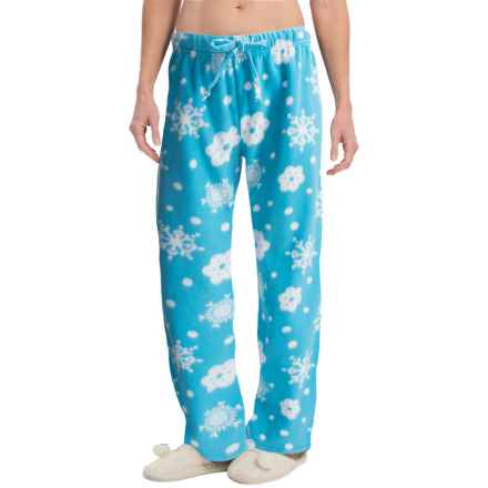 Nina Capri Polar Fleece Lounge Pants (For Women) in Snowflakes 2 - Closeouts
