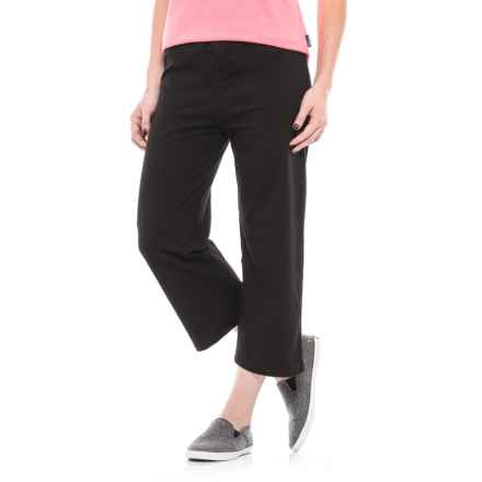 Nina Capri Stretch Cotton Capris (For Women) in Black - Closeouts