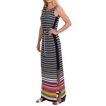 Nine West Horizon Maxi Dress - Border Stripe, Sleeveless (For Women) in Purple Orchid Combo - Closeouts