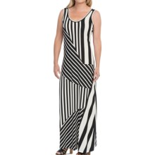 Nine West Printed Ity Knit Maxi Dress - Sleeveless (For Women) in Black/Ivory - Closeouts