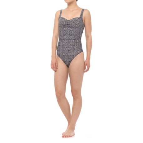 Nip Tuck Swim Joanne Nautical One-Piece Swimsuit (For Women) in Foil