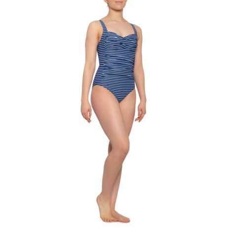 dbc094182f7 Nip Tuck Swim Riviera Denim Stripe Joanne One-Piece Swimsuit (For Women) in