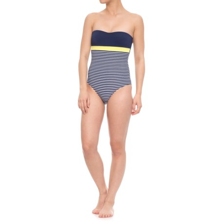 Nip Tuck Swim Torino Marine-O Bandeau Halter One-Piece Swimsuit (For Women) in Navy/Gold/Torino Stripe